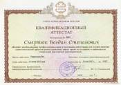 The qualification certificate № 0001
