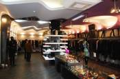 Interior of Italian clothing shop in Nalchik, KBR