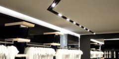 Interiors and repair of facades for shop fashion clothing