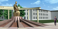Monument to the S.Nogmov, the educator of the Kabardian people, in Nalchik, Russia
